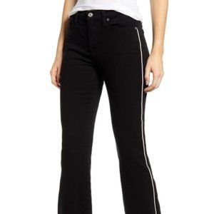 NEW 7 For All Mankind Piped High Waist Slim Kick